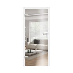 Drzwi szklane przeźroczyste